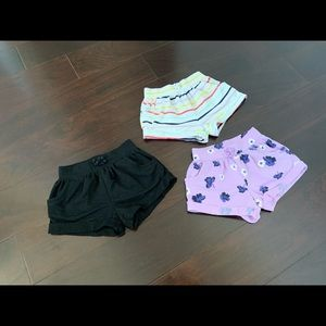 Old Navy drawstring pocket 3 set shorts, 12-18 mo